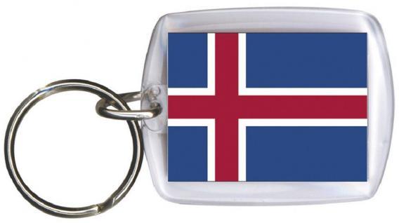 Schlüsselanhänger Keyholder - ISLAND - Gr. ca. 4x5cm - 81068 - WM Länder