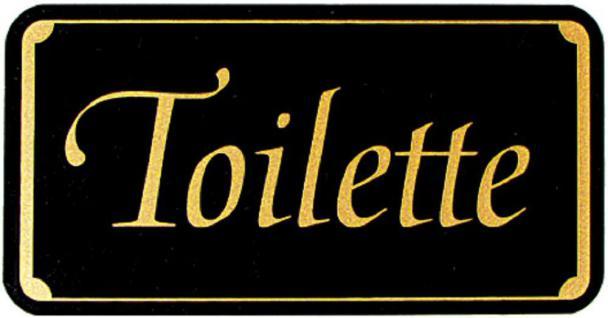 WC-Schild - Toilette - Gr. 150 x 75 mm - 308056