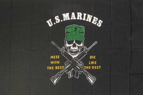 Deko-Fahne - US Marines - Gr. ca. 150 x 90cm - 24410