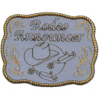 "AUFNÄHER "" RODEO WESTERN COWBOY"" NEU Gr. ca. 9cm x 7cm (00010) Patches Stick Applikation"