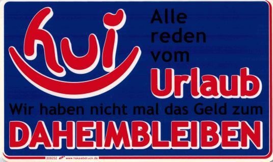 Spaß-Schild - ALLE REDEN VOM URLAUB - 309252 - 25cm x 15cm