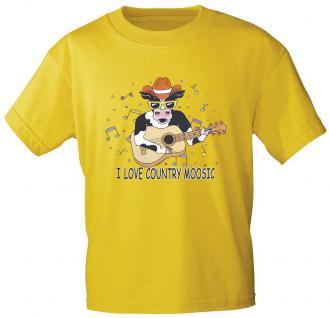 "(TW502) Kinder T Shirt "" I love Country Moosic"" 98/104"