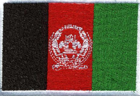 "AUFNÄHER "" AFGHANISTAN"" NEU Gr. ca. 8cm x 5cm (21563) Stick Applikation Patches - Länderflagge Fahne Nation"