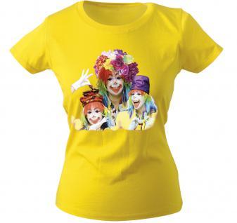 Girly-Shirt mit Print - 3 Clowns - 12764 - versch. farben zur Wahl - XS-XXL