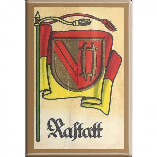 Küchenmagnet - Wappen Rastatt - Gr. ca. 8 x 5, 5 cm - 37543 - Magnet Kühlschrankmagnet