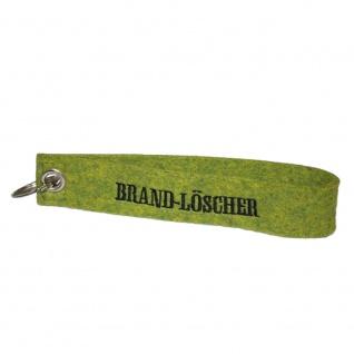 Filz-Schlüsselanhänger mit Stick Brand-Löscher Gr. ca. 17x3cm 14265 grün