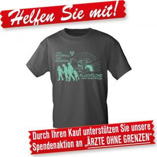 T-Shirt Unisex mit Print - Flüchtling kann jeder werden... - 10534 dunkelgrau - Gr. S