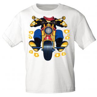 Kinder Marken-T-Shirt mit Motivdruck in 13 Farben Motorrad K12780 weiß / 86/92