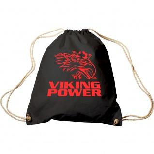 Turnbeutel mit Aufdruck - Viking Power - 65114 - Sporttasche Rucksack Trend-Bag