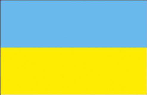Länder-Flagge - Ukraine - Gr. ca. 40x30cm - 77177 - Flagge, Schwenkfahne mit Holzstock, Stockländerfahne
