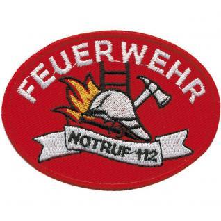 Aufnäher Patch Applikation - Feuerwehr - 00412 - Gr. ca. 11 x 8 cm - Patches Stick