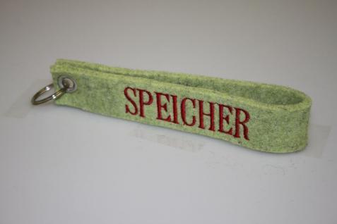 Filz-Schlüsselanhänger mit Stick - Speicher - Gr. ca. 17x3cm - 14428