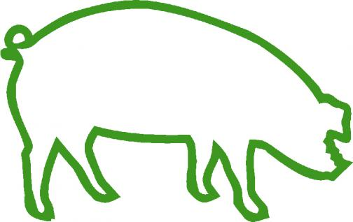 """(AP0467)PVC- Applikations- Aufkleber """" Schwein"""" 25 cm groß in 8 Farben"""