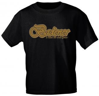 T-Shirt unisex mit Aufdruck - BADEN - 09672 schwarz - Gr. L