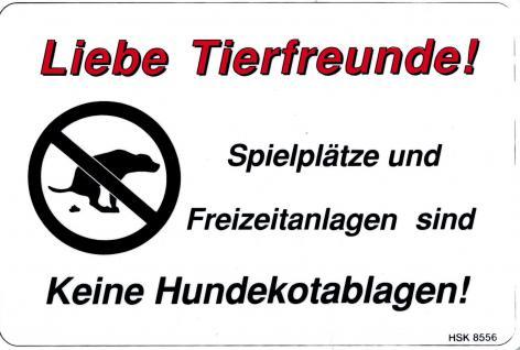 Schild - SPIELPLATZ - KEINE HUNDEKOTABLAGEN - 308556 - 30cm x 20cm