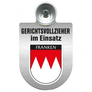 Einsatzschild Windschutzscheibe incl. Saugnapf - Gerichtsvollzieher im Einsatz - 309744-18 - Region Franken