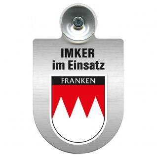 Einsatzschild Windschutzscheibe incl. Saugnapf - Imker im Einsatz - 309382-0-18 - Region Franken