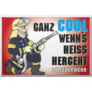 Küchenmagnet - ...wenns heiss hergeht - Gr. ca. 8 x 5, 5 cm - 38381 - Magnet Kühlschrankmagnet