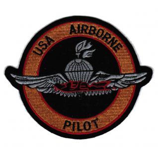 Aufnäher - Airborn Pilot - 00673 - Gr. ca. 14, 5cm - Patches Stick Applikation