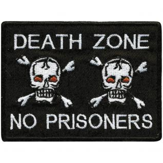 AUFNÄHER - Totenköpfe - Death Zone - 00339 - Gr. ca. 9 x 7 cm - Patches Stick Applikation