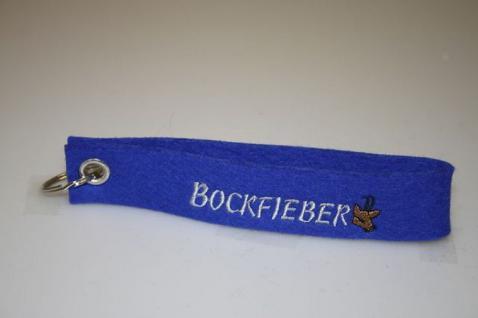 Filz-Schlüsselanhänger mit Stick - Bockfieber - Gr. ca. 17x3cm - 14352