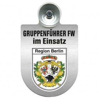 Einsatzschild Windschutzscheibe incl. Saugnapf - Gruppenführer Feuerwehr im Einsatz - 309750 Region Berlin