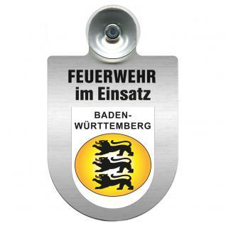 Einsatzschild Windschutzscheibe incl. Saugnapf - Feuerwehr im Einsatz - 309355 - Region Baden-Württemberg