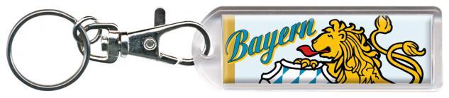 Schlüsselanhänger Keyholder - Bayern - Grüße aus München - Gr. ca. 2, 5x7cm - 13206