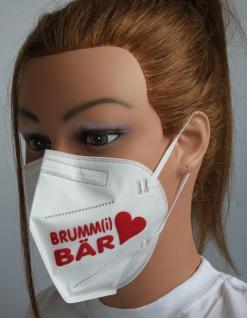 1x FFP2 Maske Deutsche Herstellung CE zertifiziert - Brumm (i) Bär