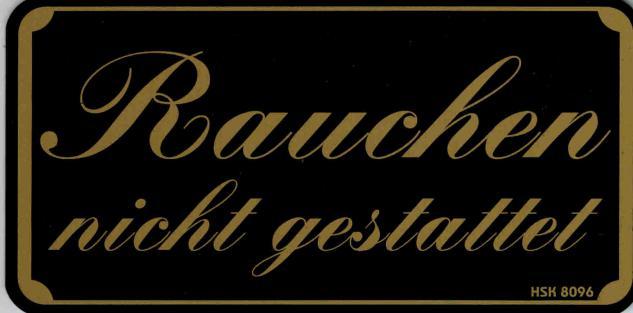 Verbotsschild - DANKE FÜRS NICHTRAUCHEN - Gr. 15, 5 x 7, 5 cm - 308098