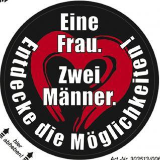 PVC Aufkleber Fun Auto-Applikation Spass-Motive und Sprüche - Eine Frau ... - 303513 - Gr. ca. 7 cm
