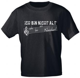 T-Shirt unisex mit Print - Ich bin nicht alt - ich bin ein Klassiker - 10678 schwarz - Gr. S-2XL