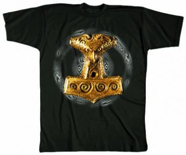 T-Shirt mit Print - WIKINGER-MOTIV THORHAMMER - 09680 - Gr. S-2XL