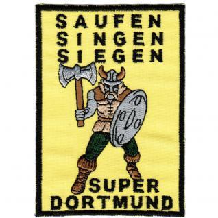 AUFNÄHER - Dortmund - 03285 - Gr. ca. 7, 5 x 11 cm - Patches Stick Applikation