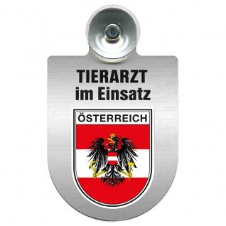 Einsatzschild Windschutzscheibe incl. Saugnapf - Tierarzt im Einsatz - 309390 Region Österreich
