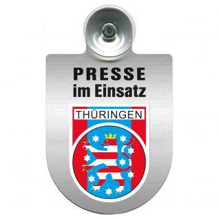 Einsatzschild Windschutzscheibe incl. Saugnapf - Presse im Einsatz - 309456-19 Region Preussen