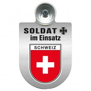 Einsatzschild Windschutzscheibe incl. Saugnapf - Soldat im Einsatz - 309392 - Region Schweiz