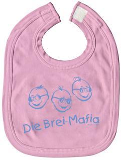 """Spucktuch Lätzchen Schlabberlatz Sabbertuch Baby-Lätzchen mit Druck """" Die Brei-Mafia"""" NEU (07079 rosa)"""
