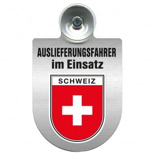 Einsatzschild Windschutzscheibe incl. Saugnapf - Auslieferungsfahrer im Einsatz - 309365 Region Schweiz