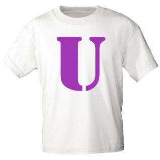 "Marken T-Shirt mit brillantem Aufdruck "" U"" 85121-U L"