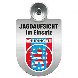Einsatzschild Windschutzscheibe incl. Saugnapf - Jagdaufsicht im Einsatz - 309370-13 - Region Thüringen