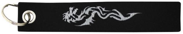 Filz-Schlüsselanhänger mit Stick Tribal Tattoo Drache Gr. ca. 17x3cm 14175 schwarz