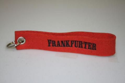 Filz-Schlüsselanhänger mit Stick - FRANKFURTER - Gr. ca. 17x3cm - 14045 - Keyholder