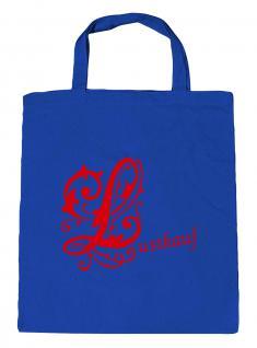 """(U10971)Umweltfreundliche Baumwoll - Tasche , ca. 28 x 43 cm mit Aufdruck """" Lustkauf"""" rot"""