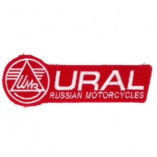 Aufnäher Applikation Emblem Abzeichen URAL Russian Motorcycles - 06117 Gr. ca. 12cm x 4cm