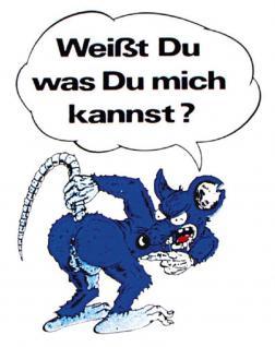 PVC Aufkleber Fun Auto-Applikation Spass - Motive und Sprüche - Weißst du... - 303118 - Gr. ca. 9 x 7 cm