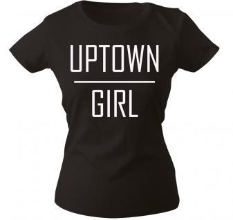 Girly-Shirt mit Print ? Uptown Girl - 12340 schwarz - XS-2XL