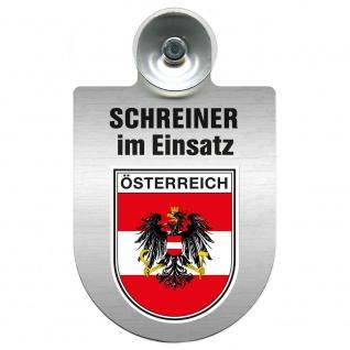 Einsatzschild Windschutzscheibe incl. Saugnapf - Schreiner im Einsatz - 309461 Region Österreich