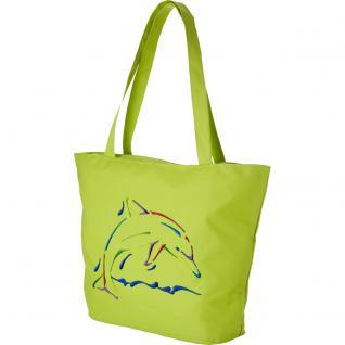 Modische Lifestyle-Tasche mit Motiv- Stickerei - Delphin - 08952 - Shopper Strandtasche Ticiana Montabri - Vorschau