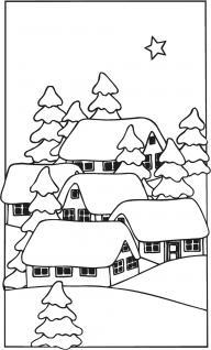 Wandtattoo Dekorfolie Weihnachtsbild WD0808 - schwarz / 120cm